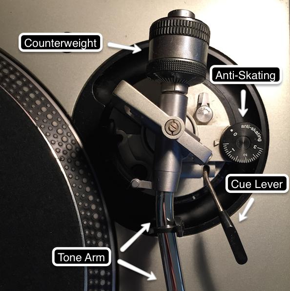 Optimizing counterweight and anti-skating on tone arm of Technics SL-1200 to ensure correct turntable set up