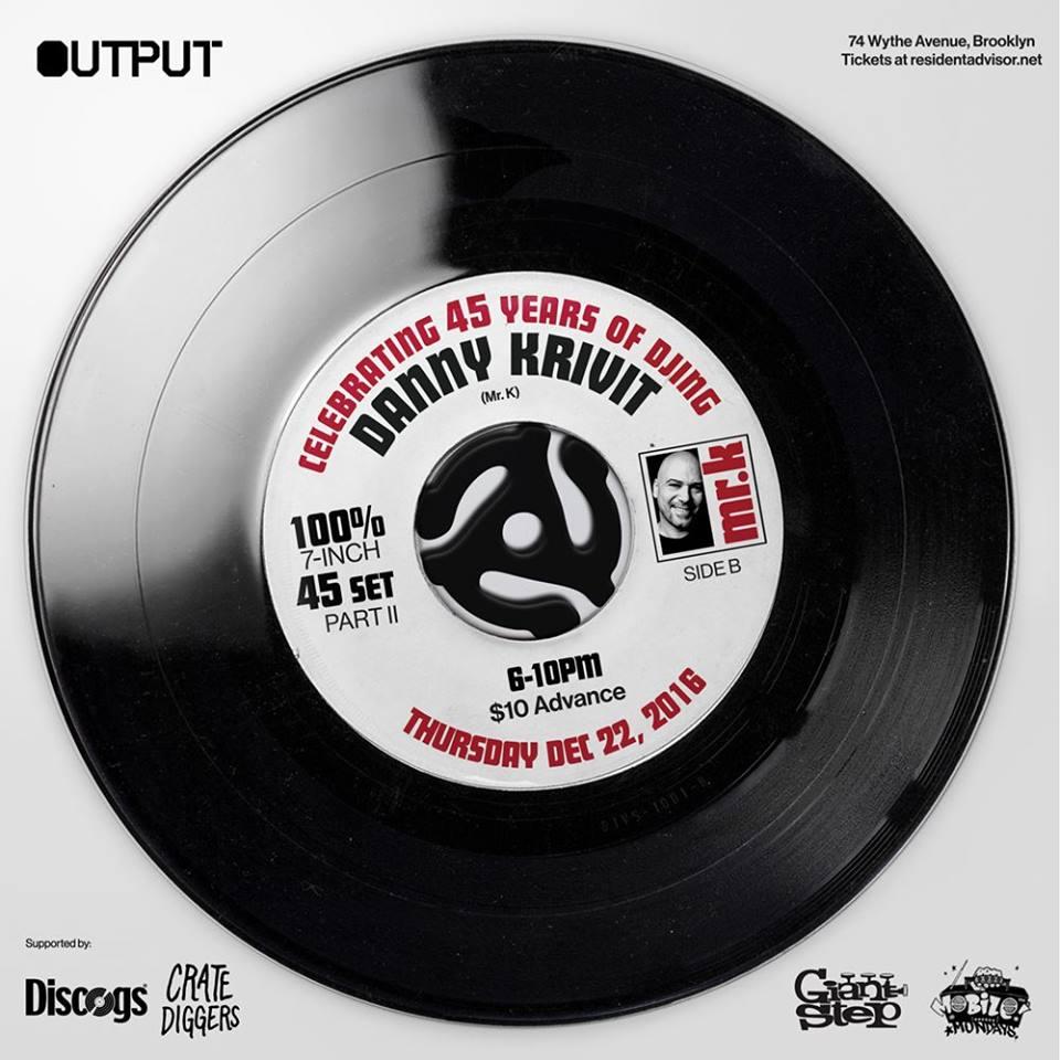 Danny Krivit 45 Years of DJing
