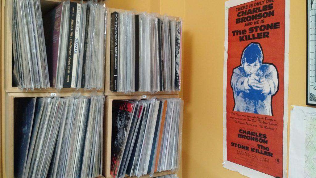 Discogs seller Polynomiel's vinyl record shelves