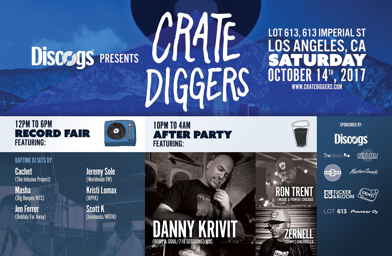 Crate Diggers LA promo poster