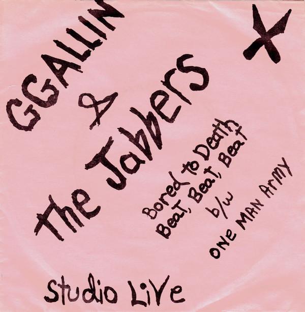 GG Allin & The Jabbers - Bored To Death album cover