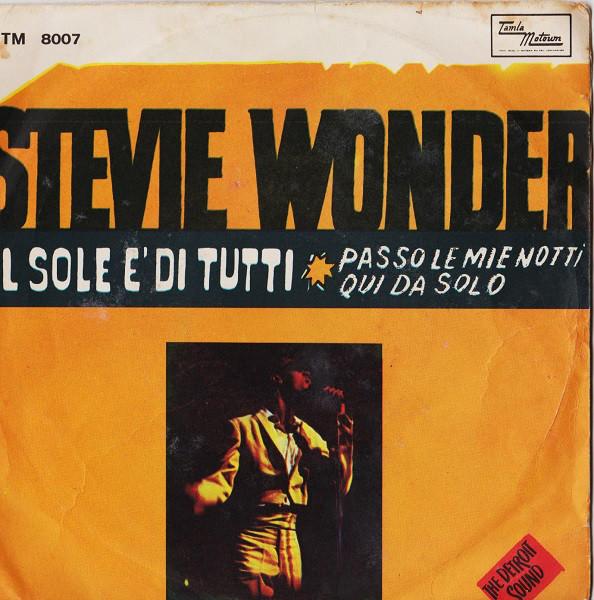 Stevie Wonder - Passo Le Mie Notti Qui Da Solo