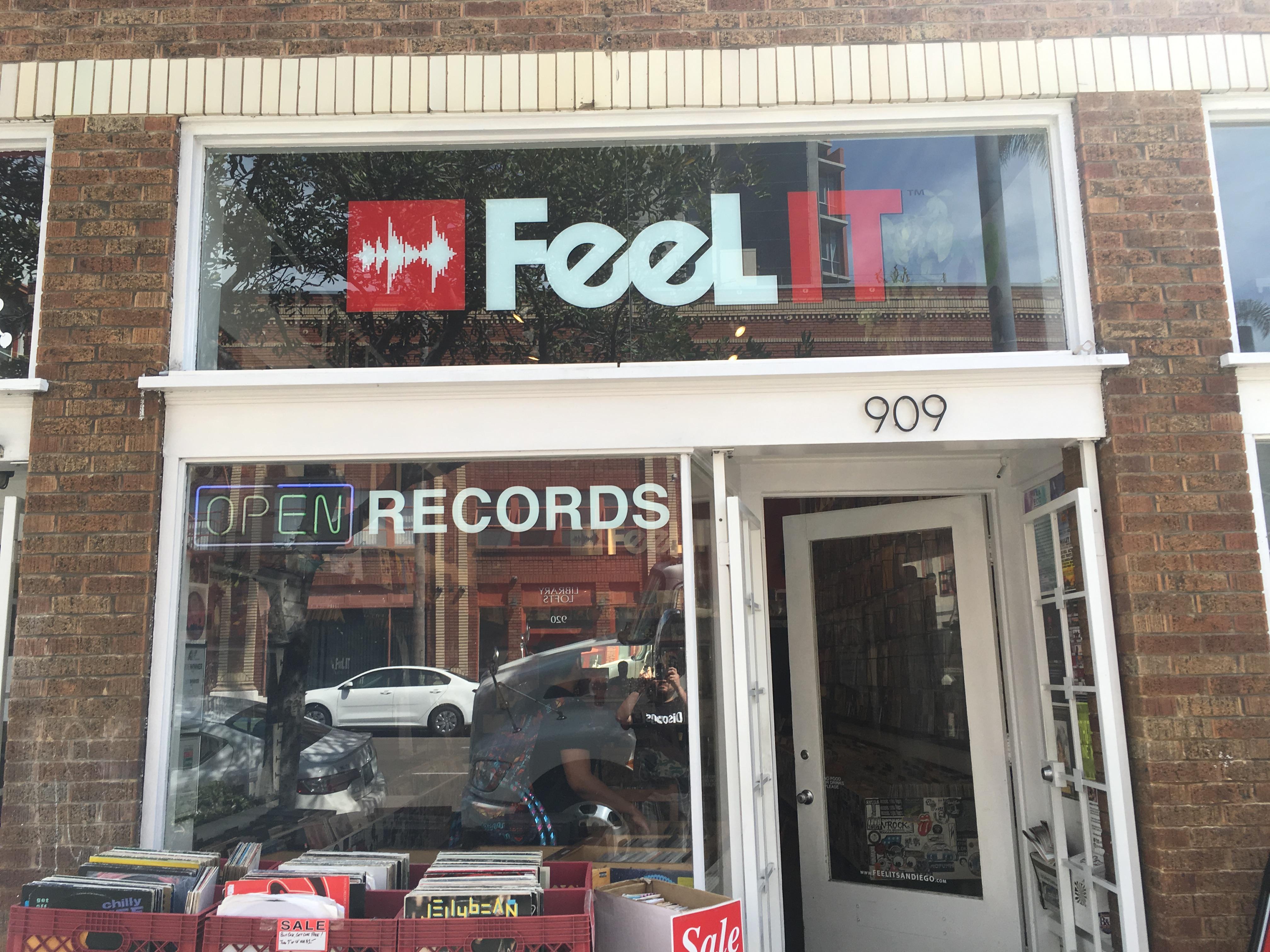 FeeLit Record Store in San Diego