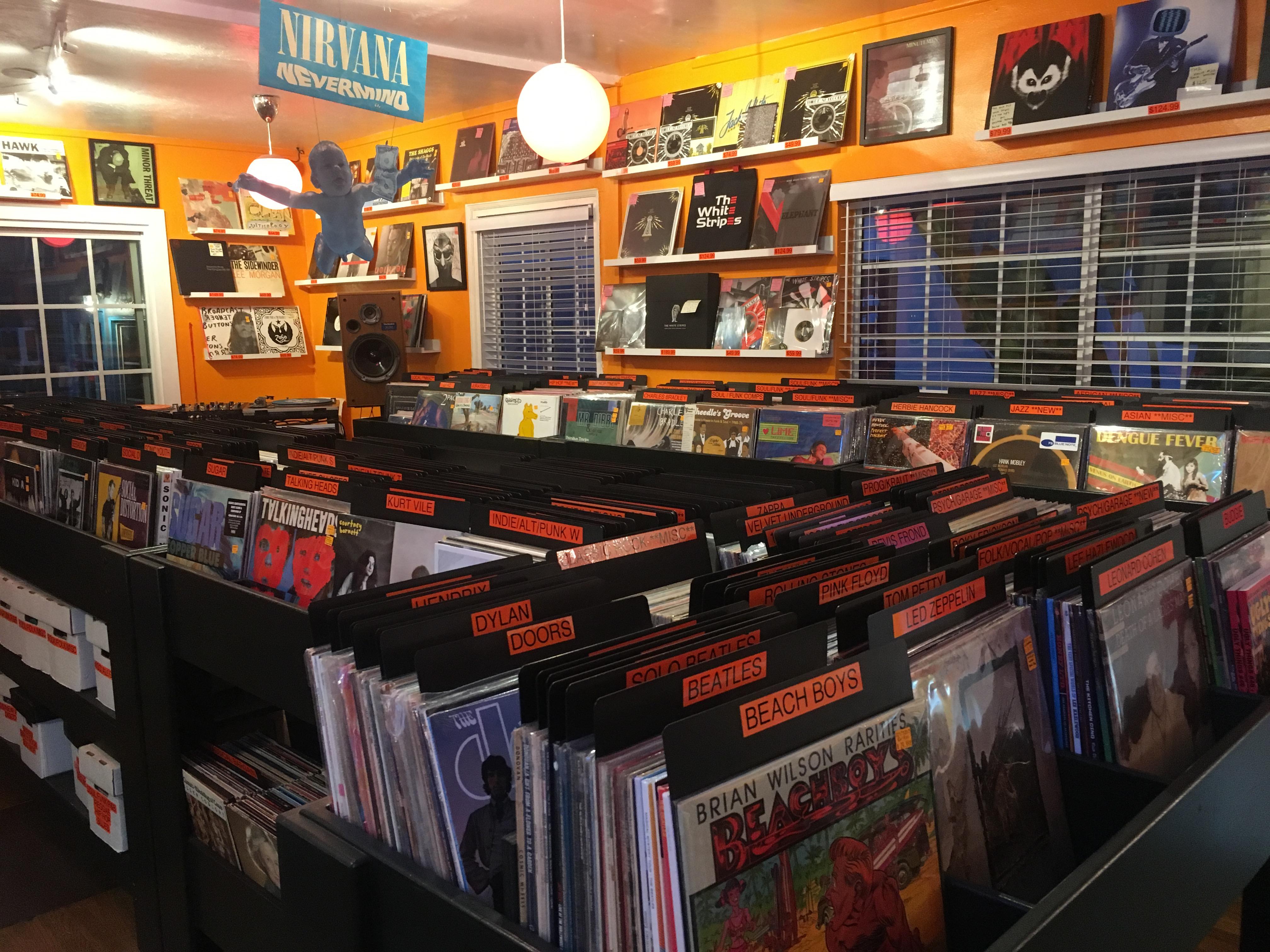 Vinyl Junkies Record Shack in San Diego