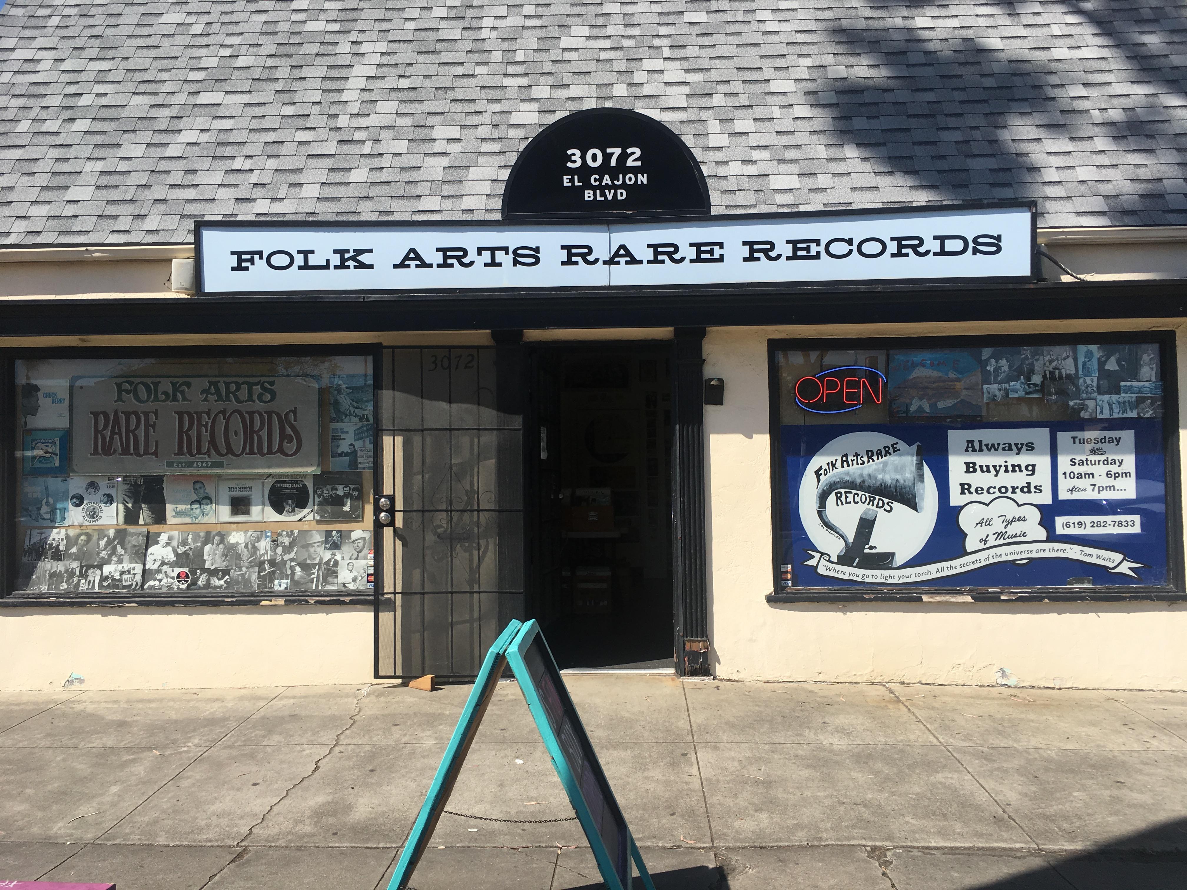 Folk Arts Record Shop in San Diego