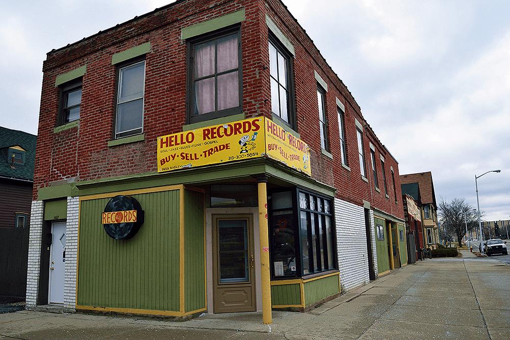Entrance to Hello Records in Detroit Michigan