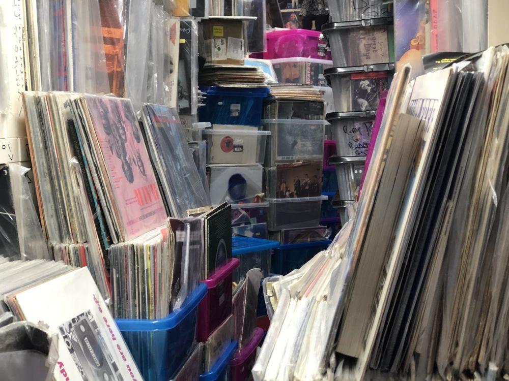 Inside of Backbeat Records in Endinburgh, Scotland
