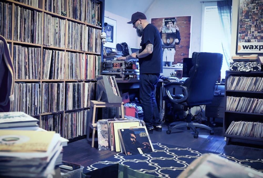 DJ Prestige at his home