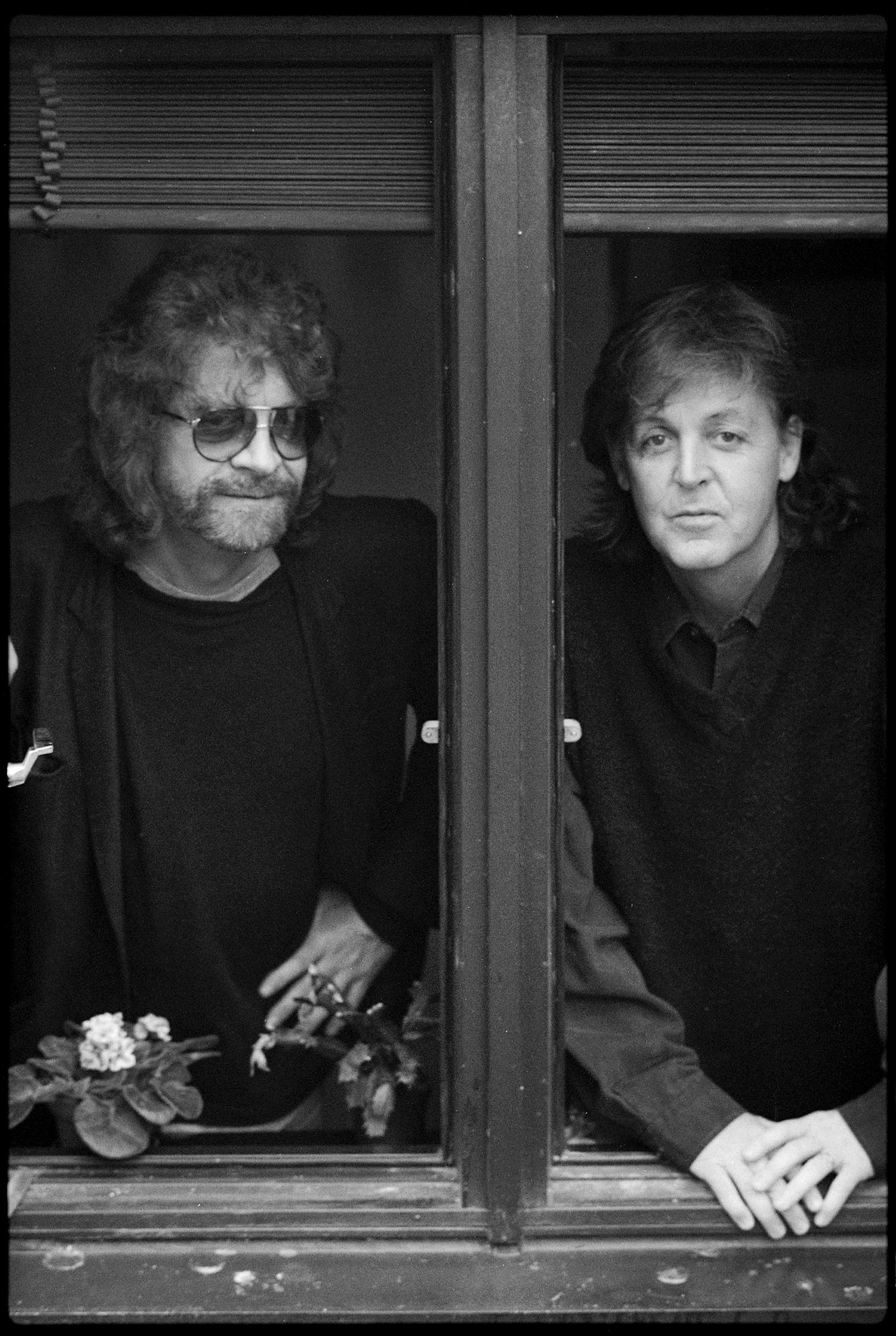 Jeff Lynne and Paul McCartney by Linda McCartney