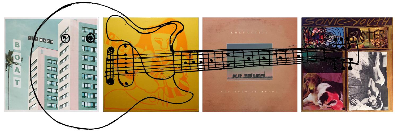 noddle guitar heavy records instrument