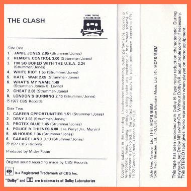 the clash cassette 1982