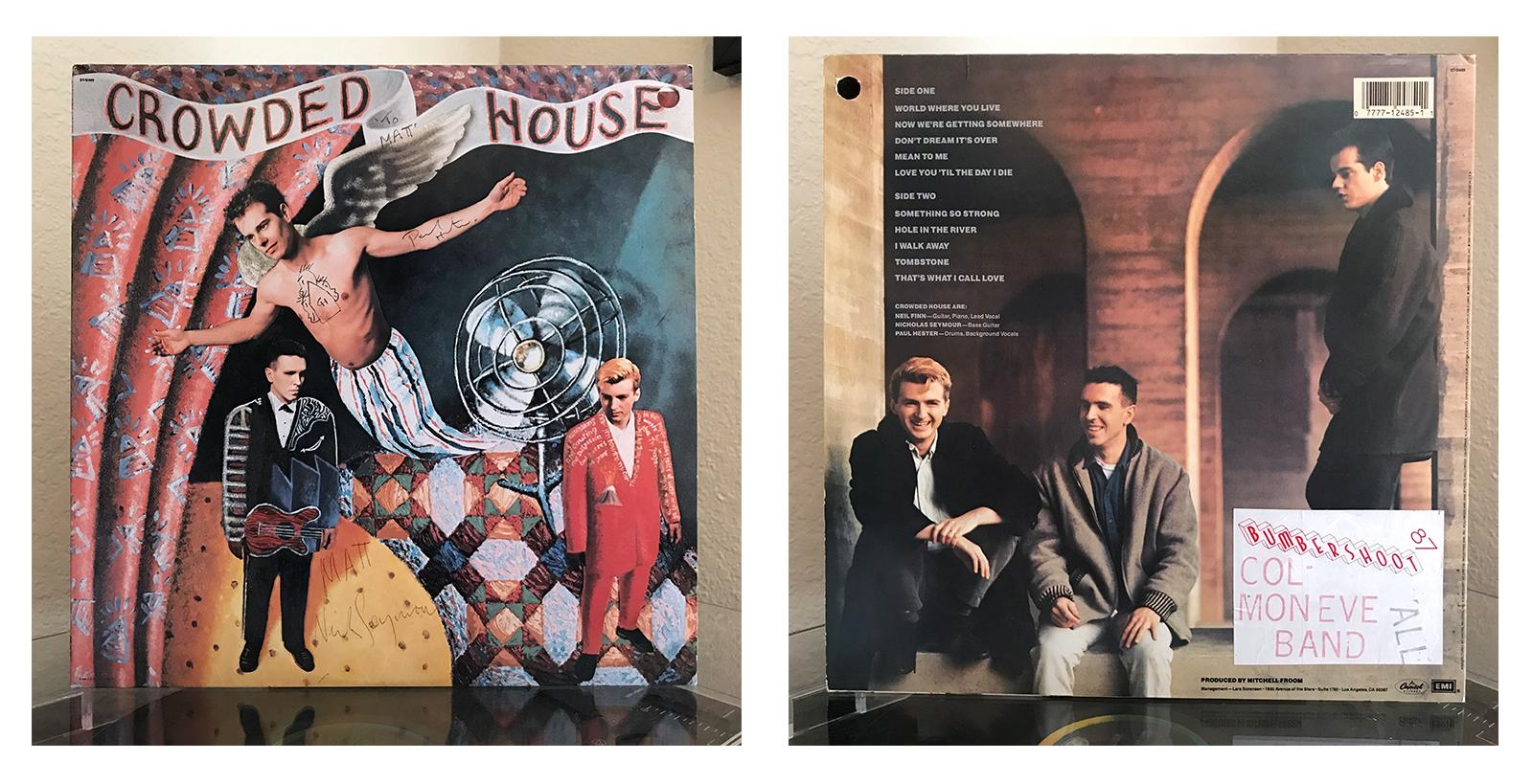 Crowded House debut original vinyl Matt Kumma