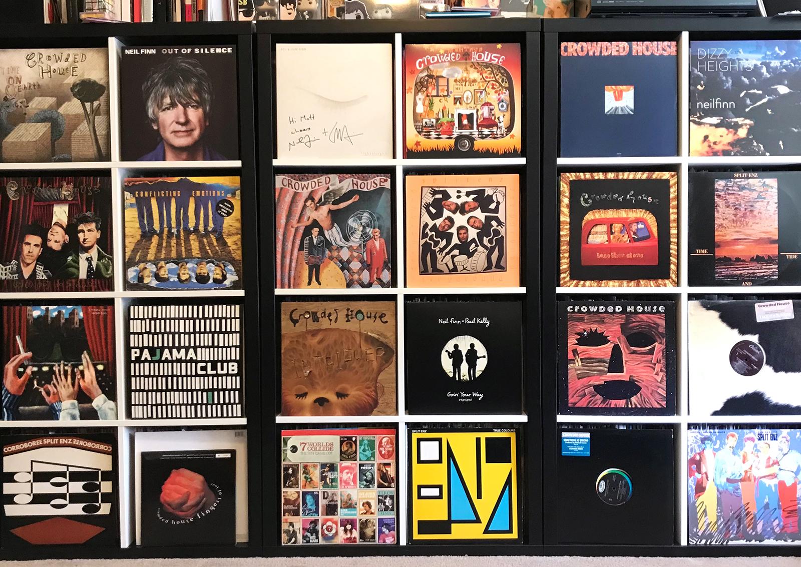 Crowded House vinyl collection Matt Kumma