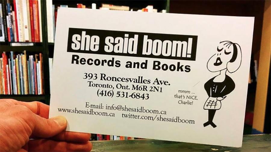 she said boom toronto ontario canada record store